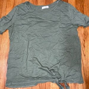Cotton t-shirt with side tie